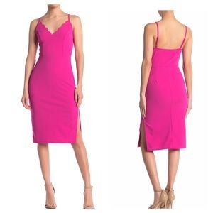 Socialite - Scallop Trim Bodycon Dress